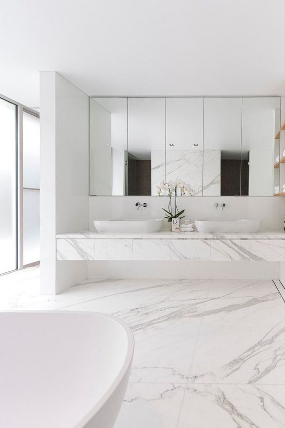 15 Inspiring Marble Bathroom Sink Designs For Your Luxury Home 38