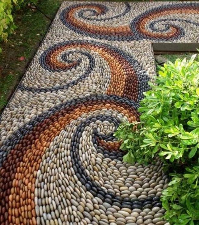 15 Popular Rock Pathway Design Ideas Enhance Beautiful Garden 26