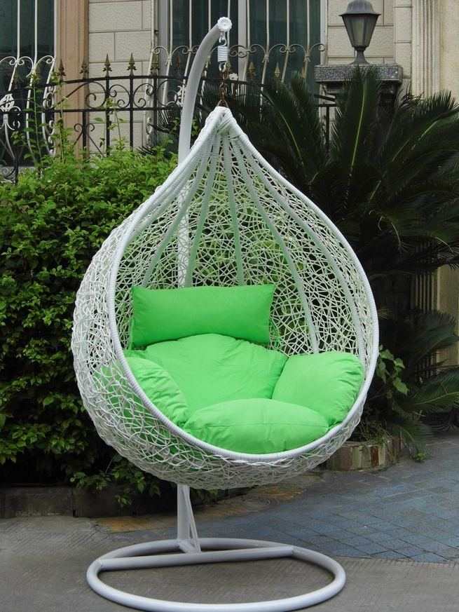 16 Adorable Rattan Hanging Chair Design Ideas 02