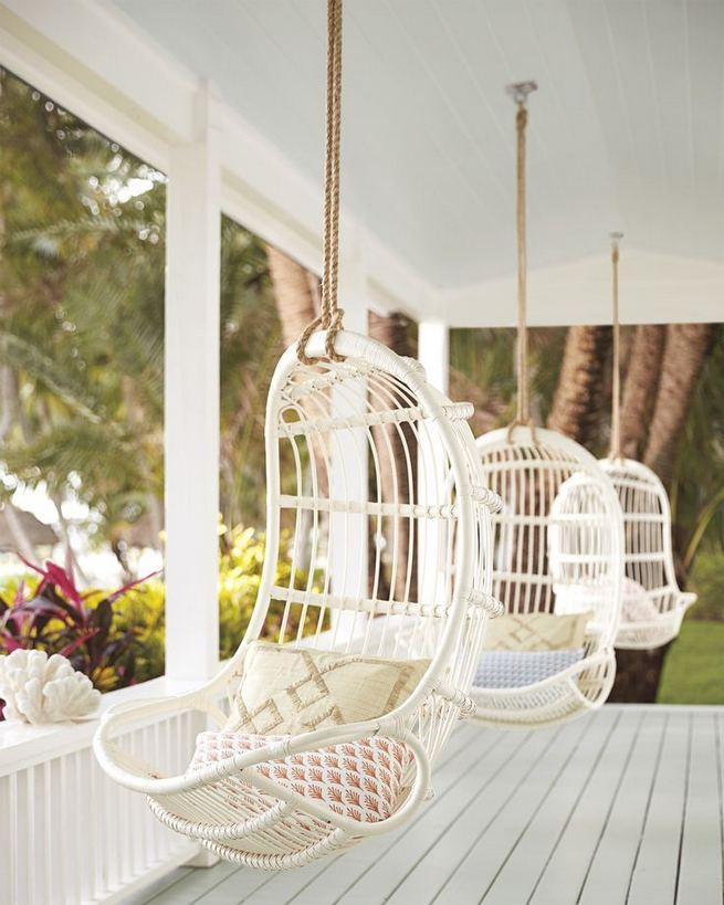 16 Adorable Rattan Hanging Chair Design Ideas 05
