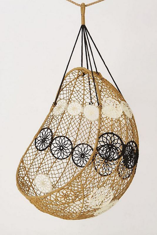 16 Adorable Rattan Hanging Chair Design Ideas 08