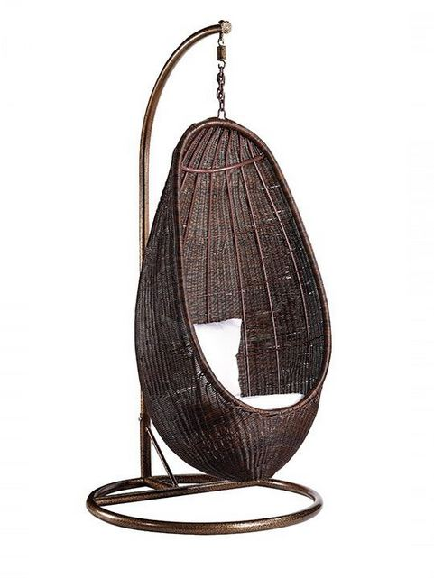 16 Adorable Rattan Hanging Chair Design Ideas 13