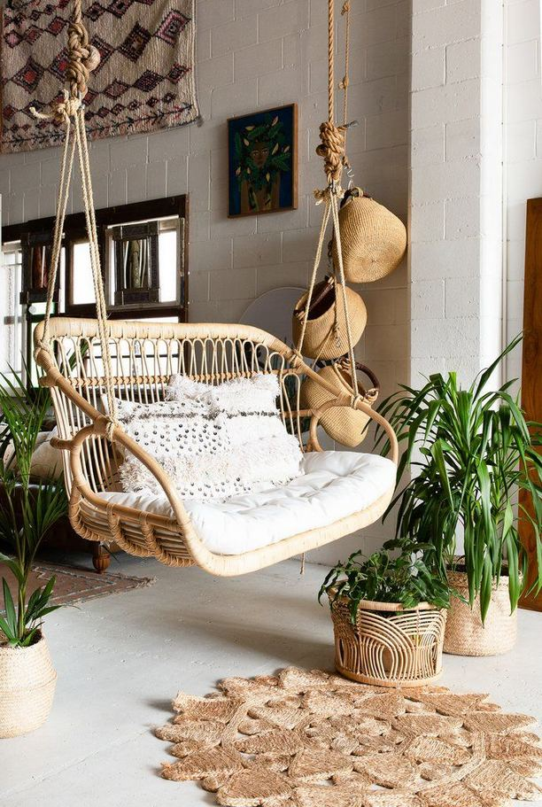 16 Adorable Rattan Hanging Chair Design Ideas 15