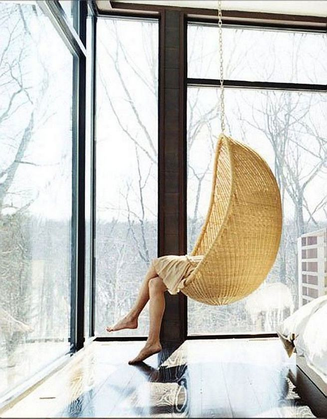 16 Adorable Rattan Hanging Chair Design Ideas 19