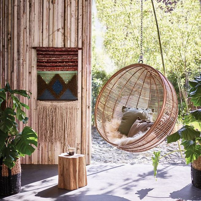 16 Adorable Rattan Hanging Chair Design Ideas 24