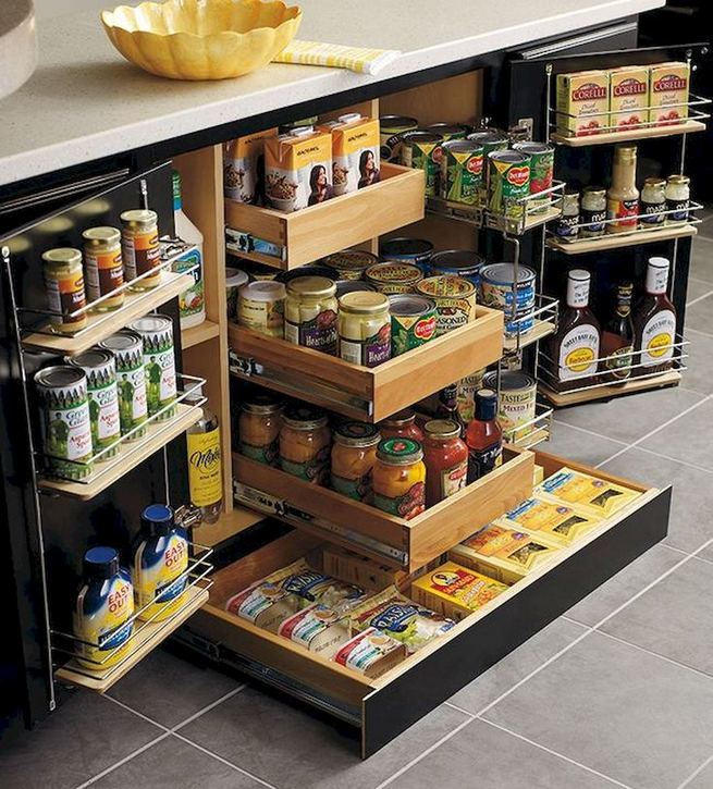 17 Adorable Space Saving Kitchen Pantry Ideas 06