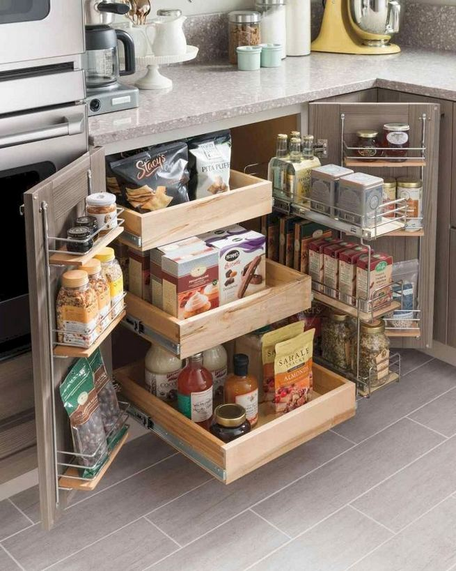 17 Adorable Space Saving Kitchen Pantry Ideas 12