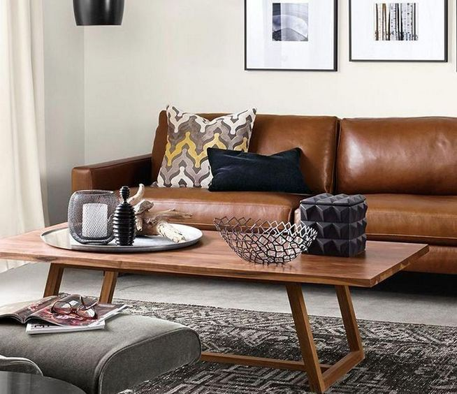 17 Attractive Brown Leather Living Room Furniture Ideas 21