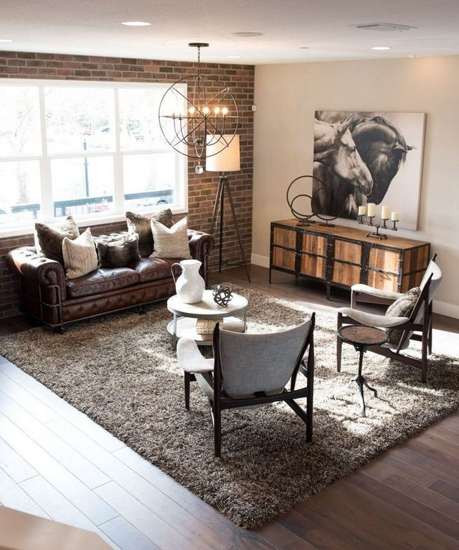 18 Adorable Industrial Floor Lamp Ideas For Living Room 24