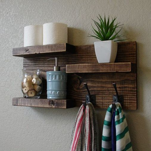 19 Cool Creative Bathroom Wall Shelves Ideas For Small Space 11