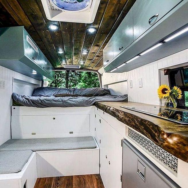 14 Best RV Camper Van Interior Decorating Ideas 02