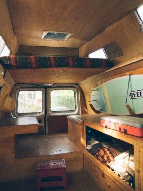 14 Best RV Camper Van Interior Decorating Ideas 18