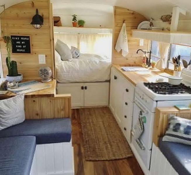 14 Best RV Camper Van Interior Decorating Ideas 36