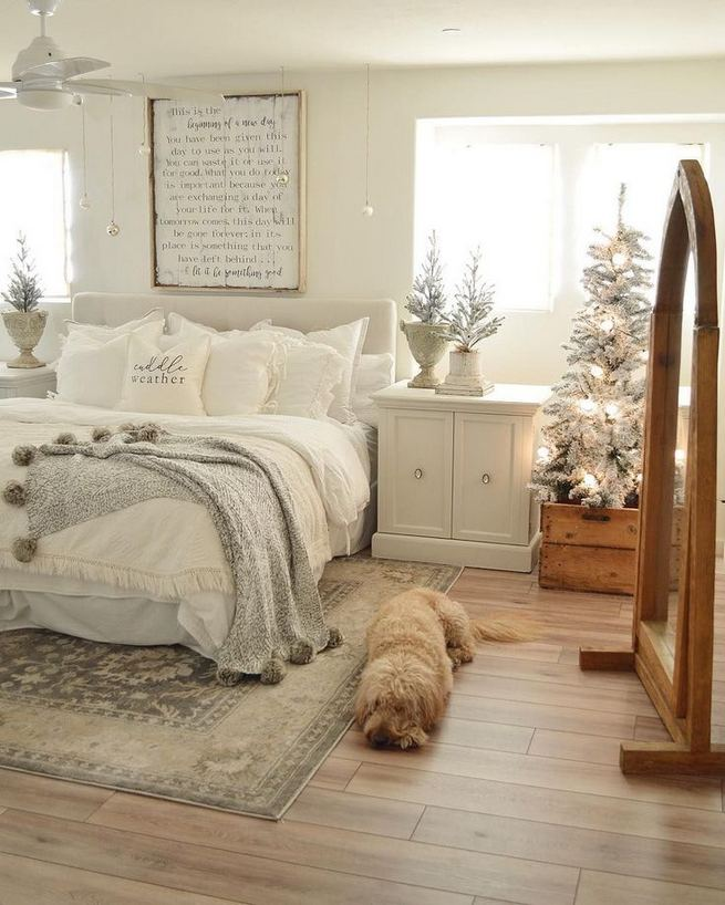 16 Comfy Farmhouse Bedroom Decor Ideas 10
