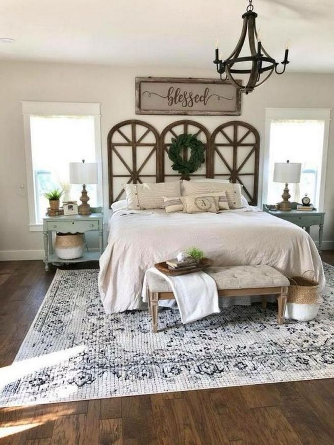 16 Comfy Farmhouse Bedroom Decor Ideas 27