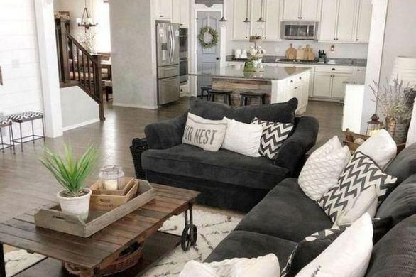 16 Cozy Farmhouse Style Living Room Decor Ideas 27