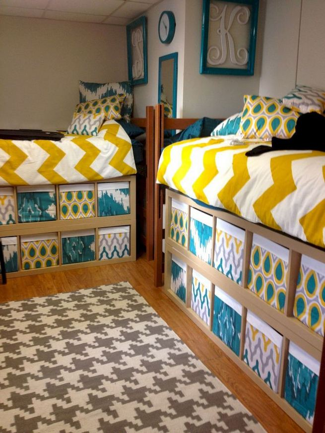 16 Creative Dorm Room Storage Organization Ideas On A Budget 07
