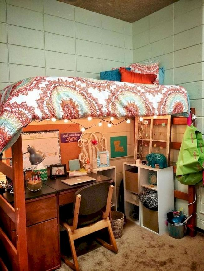 16 Creative Dorm Room Storage Organization Ideas On A Budget 20