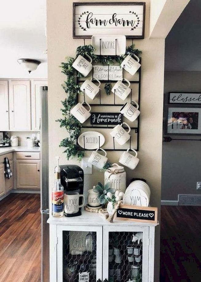 16 Stylish Home Coffee Bar Design Decor Ideas 09