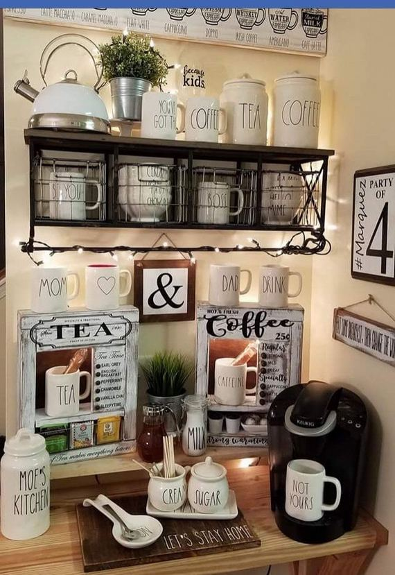 16 Stylish Home Coffee Bar Design Decor Ideas 15