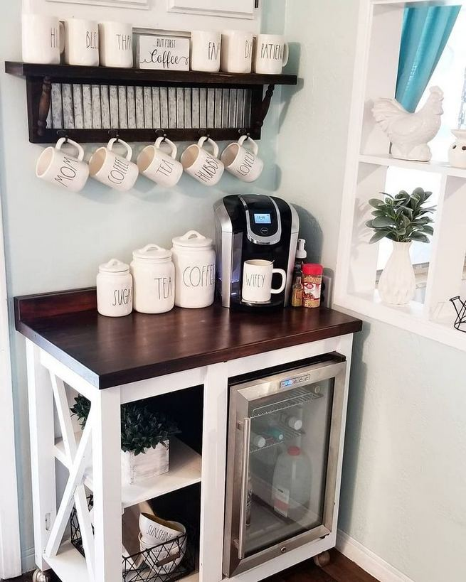 16 Stylish Home Coffee Bar Design Decor Ideas 20
