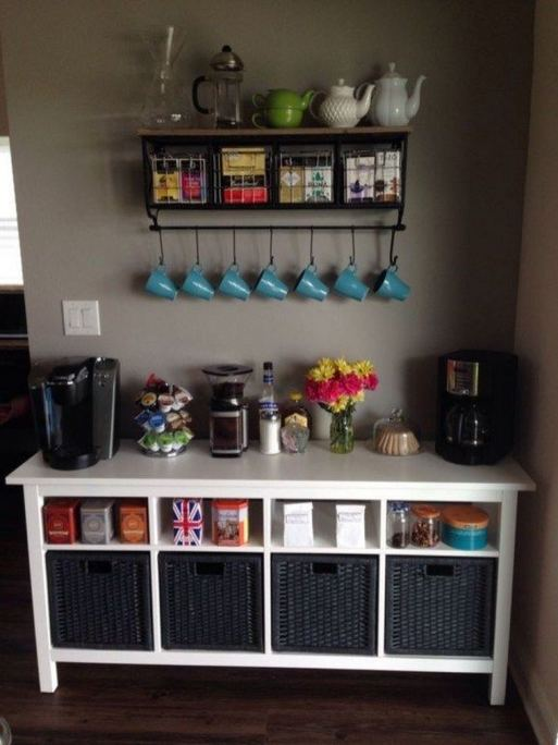 16 Stylish Home Coffee Bar Design Decor Ideas 26