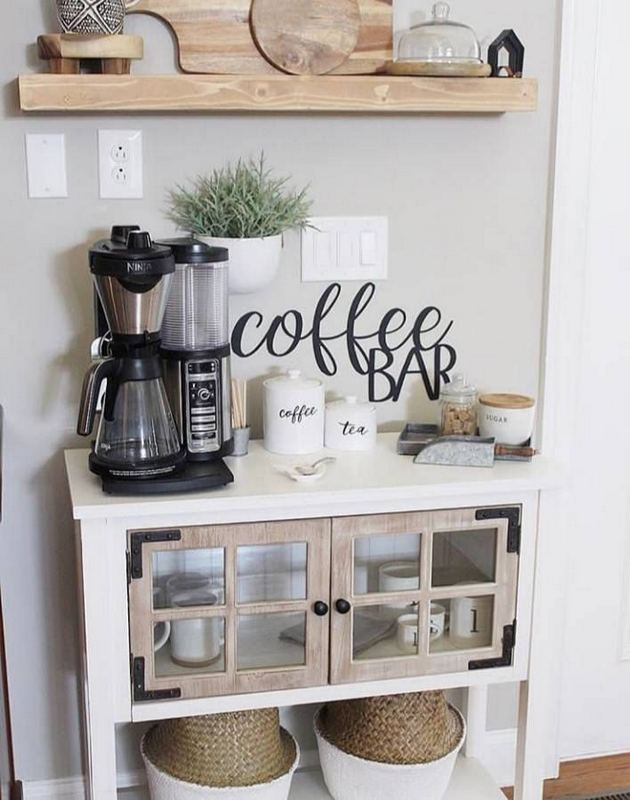 16 Stylish Home Coffee Bar Design Decor Ideas 39