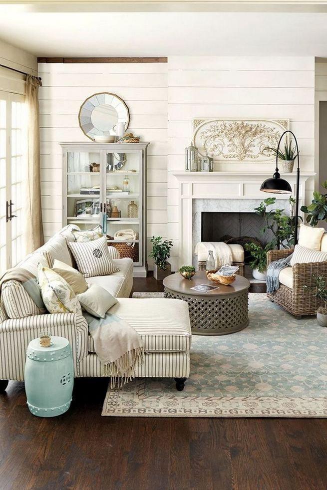 16 Wonderful Farmhouse Living Room Decor Design Ideas 19