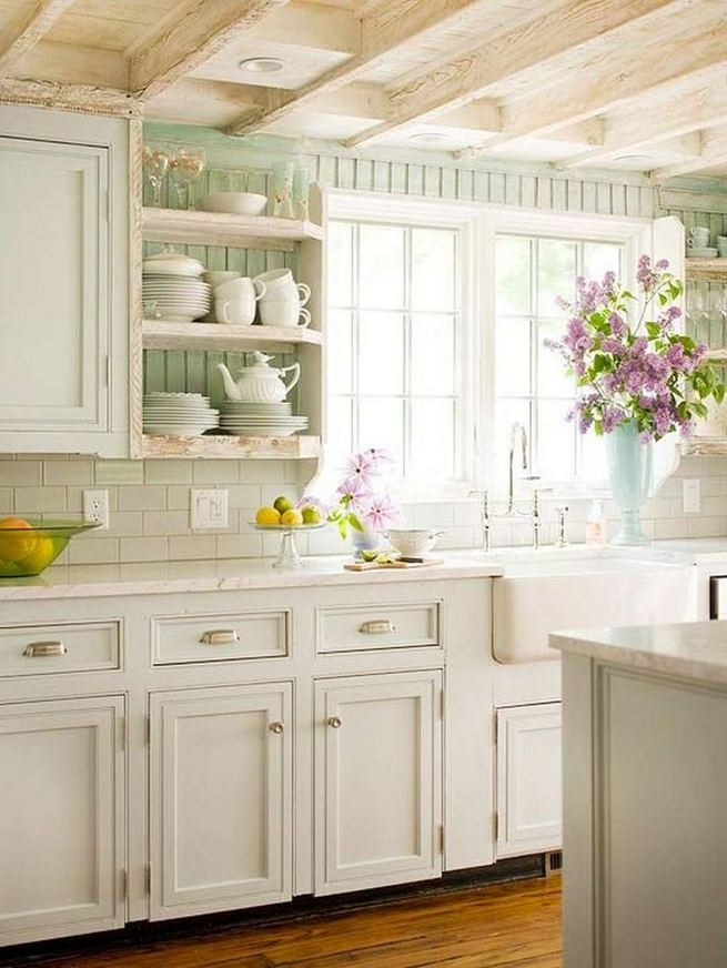 17 Inspiring Country Style Cottage Kitchen Cabinets Ideas 09
