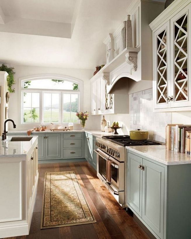 17 Inspiring Country Style Cottage Kitchen Cabinets Ideas 17