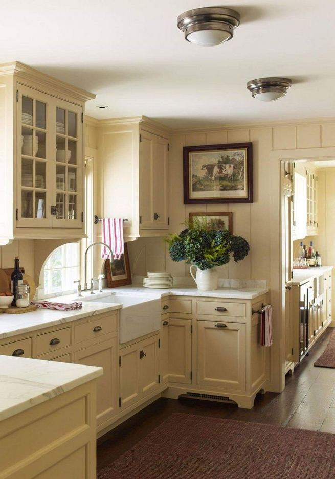 17 Inspiring Country Style Cottage Kitchen Cabinets Ideas 32