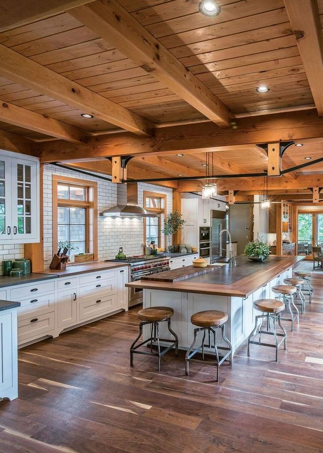 17 Inspiring Country Style Cottage Kitchen Cabinets Ideas 40