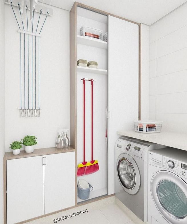 17 Top Cozy Small Laundry Room Design Ideas 31