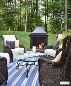 18 Gorgeous Outdoor Fireplaces And Patios Design Ideas For Your Backyard 05