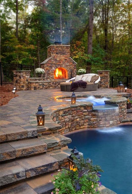 18 Gorgeous Outdoor Fireplaces And Patios Design Ideas For Your Backyard 25