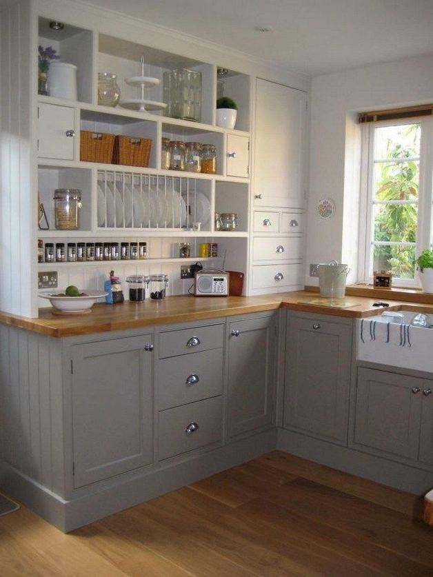 19 Clever Small Kitchen Remodel Open Shelves Ideas 23