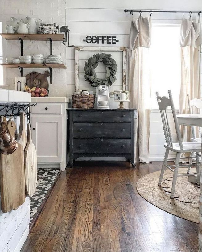 22 Stunning Farmhouse Style Cottage Kitchen Cabinets Ideas 15