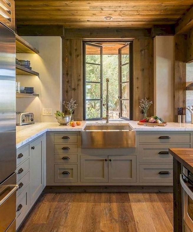 22 Stunning Farmhouse Style Cottage Kitchen Cabinets Ideas 24