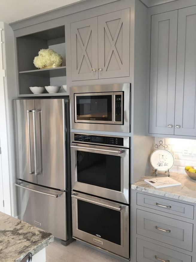 22 Stunning Farmhouse Style Cottage Kitchen Cabinets Ideas 30