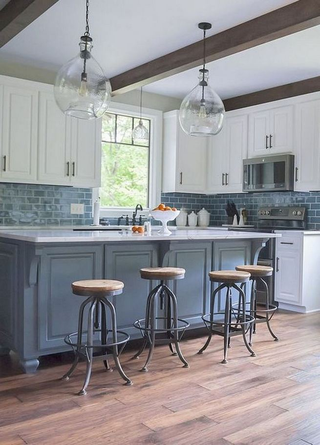 22 Stunning Farmhouse Style Cottage Kitchen Cabinets Ideas 34