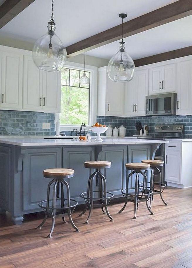 22 Stunning Farmhouse Style Cottage Kitchen Cabinets Ideas 34