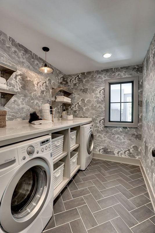 12 Beautiful Laundry Room Tile Pattern Design Ideas 23