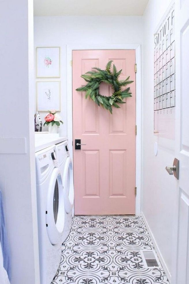 12 Beautiful Laundry Room Tile Pattern Design Ideas 24