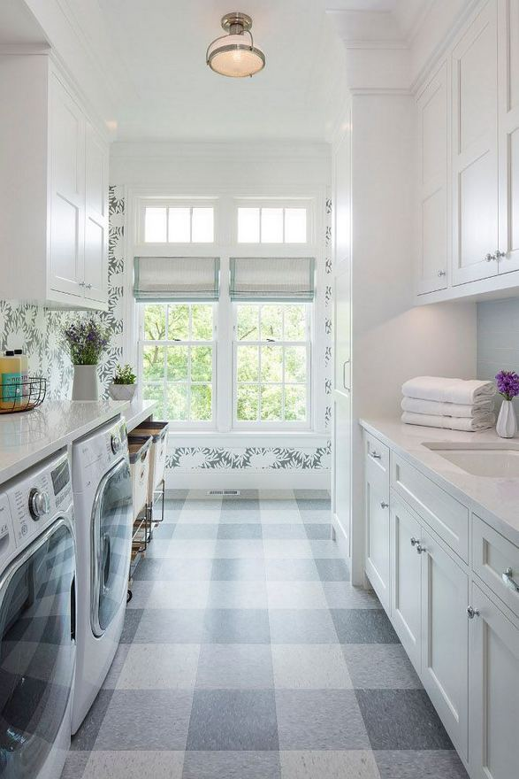 12 Beautiful Laundry Room Tile Pattern Design Ideas 26