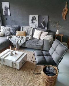 12 Cozy Soft White Couch Design Ideas For Small Living Room 24
