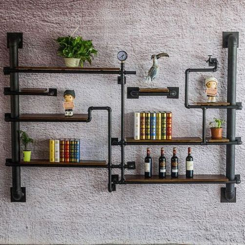 13 Creative DIY Pipe Shelves Design Ideas 04