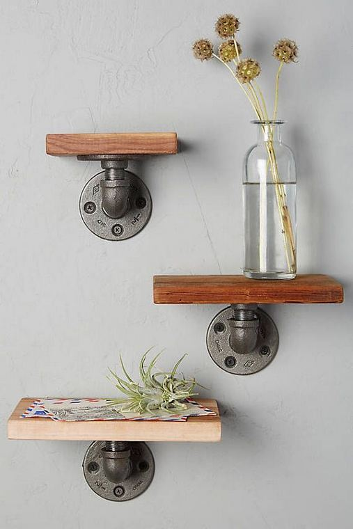 13 Creative DIY Pipe Shelves Design Ideas 05