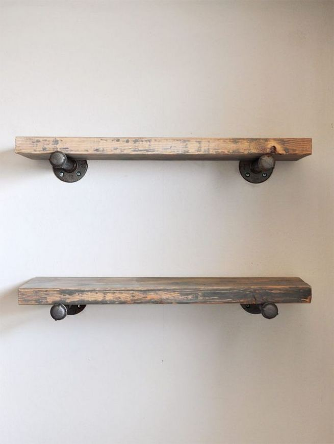 13 Creative DIY Pipe Shelves Design Ideas 14