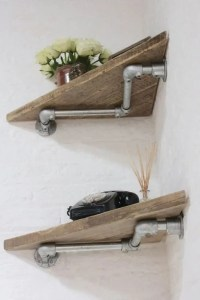 13 Creative DIY Pipe Shelves Design Ideas 22