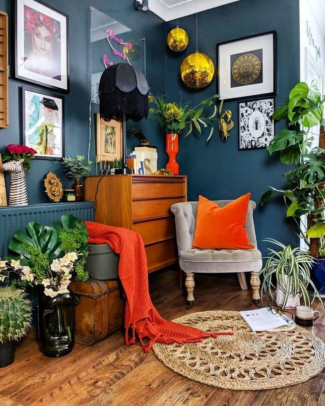 14 Cozy Bohemian Living Room Decoration Ideas 06